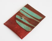 Leather Business Card/Credit Card Holder - Hand Dyed