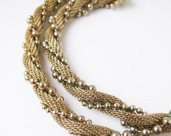 Twisted Vintage Necklace and Bracelet Set