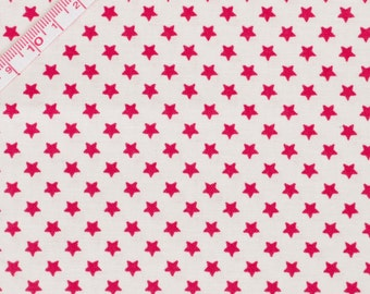 """Tilda Star Red Fabric / """"Christmas Play"""" Quilt Collection - Fat Quarter / 50 cm x 55 cm"""