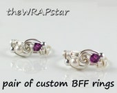 Friendship Ring Gift for Best Friend Personalized Jewelry Personalized Birthstone Jewelry BFF Ring BFF Jewelry Best Friend Jewelry ITEM0300
