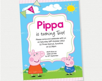 Peppa Pig Birthday Invitation - DIY Printable