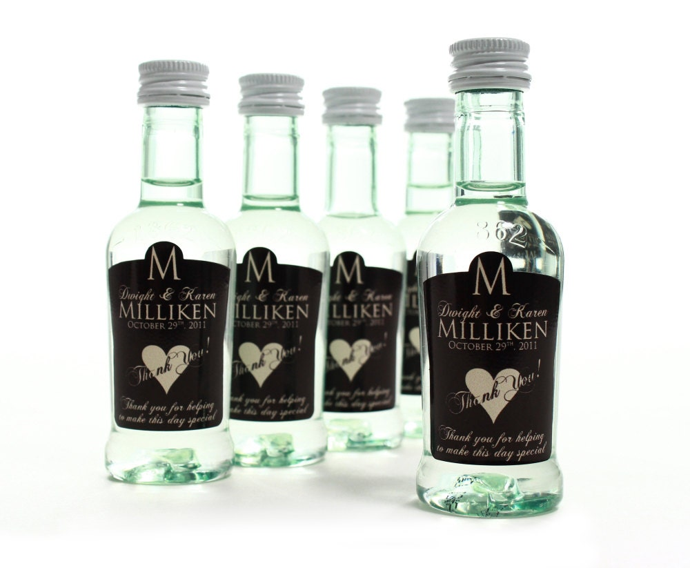 Custom Wedding Favors Mini Bottle Labels Unique Wedding