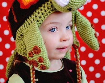 PATTERN PDF Sea Turtle Ear Flap Hat COMBO set Infant through adult