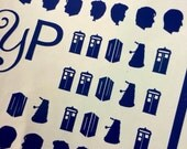Doctor Who Inspired Nail Decals - 68