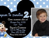 Mickey Mouse Invitations OR Thank you card