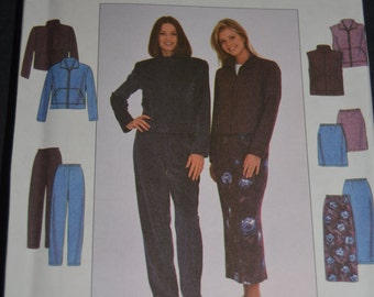 SImplicity 8398 MIsses Jacket or Vest Skirt and Pants Sewing Pattern - UNCUT - Size 8 10 12