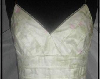 Vintage Carmen Marc Valvo lightweight organza romantic dress size 8