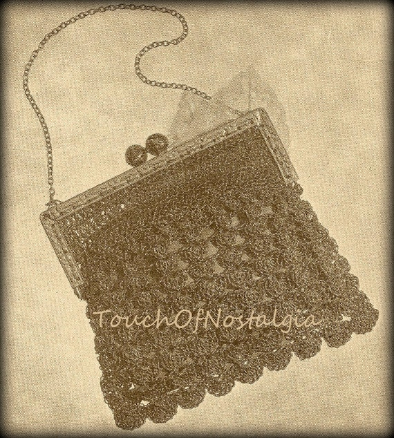 Crochet Evening Bag Pattern : to FANCY EVENING HANDBAG Crochet Pattern Vintage 1940s - Fancy Purse ...