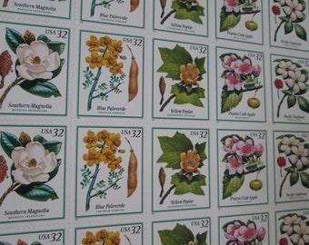 Flowering Trees ... Unused Vintage Postage Stamps ...25 32 Cent Postage Stamps