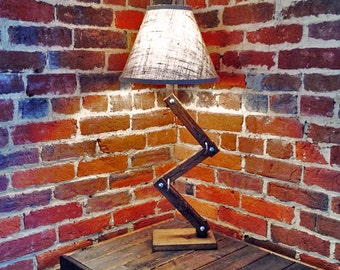 Urban Style Wood Desk / Table Lamp