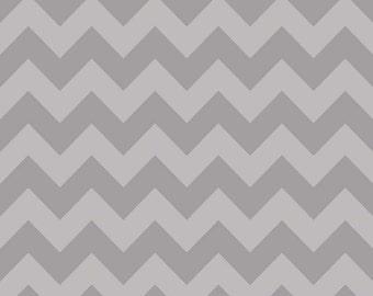 Riley Blake Fabric by the Yard Tone on Tone Medium Chevron  Gray C380-41