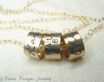 Gold mom necklace 14k gold filled mommy gold charm necklace