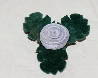 Light Blue Button Rose Pin