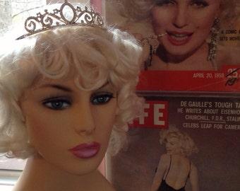 Vintage 1950s Rhinestone Tiara-Princess-Prom Queen-