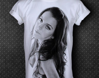 Crazy Princess Lindsay Lohan American Actress Artist White T-shirt Size S Small