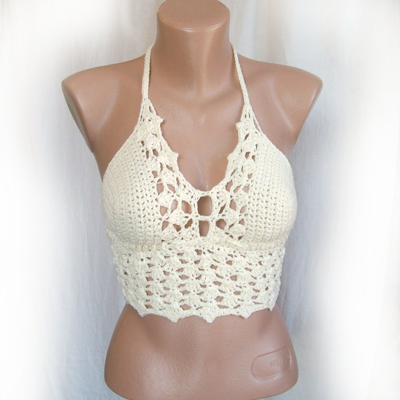 ... top , Crochet festival bikini top , Crochet crop top , Sexy crochet