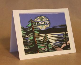 West Coast Art Cards By Misha Smart Artworks- 'Luna'