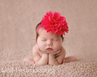 baby headband, baby girl headband, valentines headband, pink headband, wedding headband, flower headband, vintage headband, wedding headband