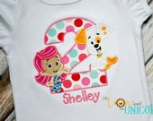 Bubble Guppies Birthday shirt (Number can be changed) Bubble Puppy and Molly