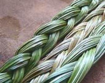 Dried Sweetgrass Braid, Incense, Spiritual Cleansing,Herb,Metaphsical, Pagan, Meditation