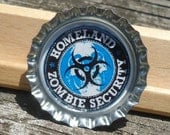 Homeland Zombie Security Bottle Cap Pin