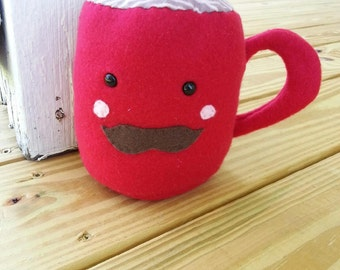 Red Scented Plush Coffee Mug