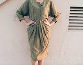 RESERVED - vintage olive green dress by scarlett