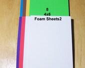 8 Craft Foam Sheets2, Art Craft Supply, Church Craft Supply, School Craft Supply, Children Craft Supply, 4 x 6 Foam Sheets