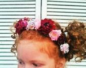 Floral Crown, Flower Headband, Wedding, Flower Girl, Wedding Flowers, wedding hair Accessory