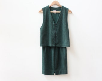 Two Piece Green 90s Outfit
