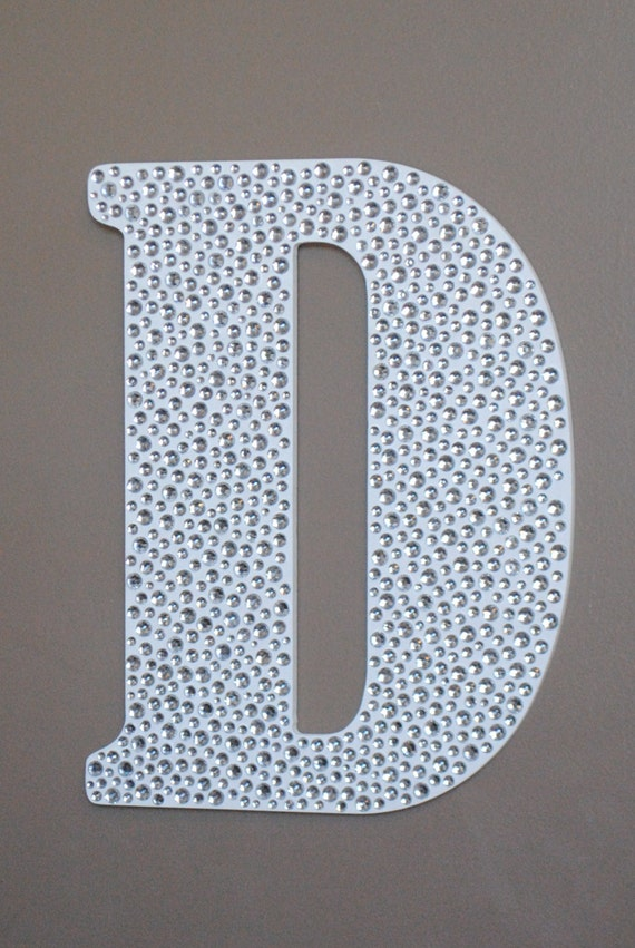 Items similar to 18 sparkle white bling decorative wall letters wedding decor girls bedroom - Sparkle wall decor ...