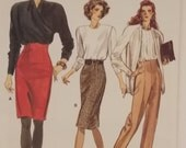 Vintage Very Easy Vogue 7074 Fitted Skirt and Pants Pattern (pants only)