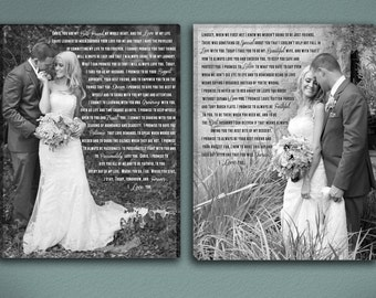 Wedding Vow Art with Photos and Mixed Fonts