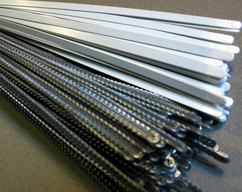 11.5 inch White Coating Steel Corset Boning 1/4 inch wide, 29.21 cm length, 1 dozen