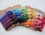 Elastic Hair Ties 60 Count // Rainbow Sampler