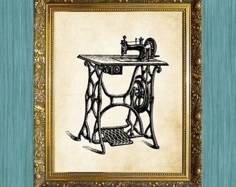 Sewing Machine Print  8 x 10  Sewing Art Print Sewing Machine