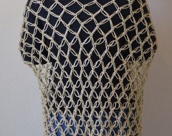 Crocheted Solomon's Knot Shawl
