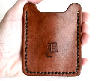 Personalized money clip wallet, mens leather wallet, money clip wallet, mens gifts, groomsmen gifts, 3rd anniversary gift for him husband