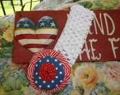CHILD'S  4th July Headband