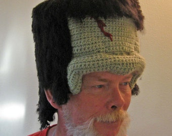 PATTERN:  Frankenstein Crochet hat