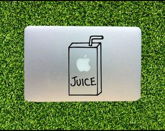 Apple Juice Box - Macbook Decal / pro sticker decals keyboard decals macbook decal cover mac keyboard decal macbook decal keyboard