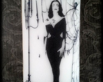Vampira Candle - Tall Unscented Pillar Candle