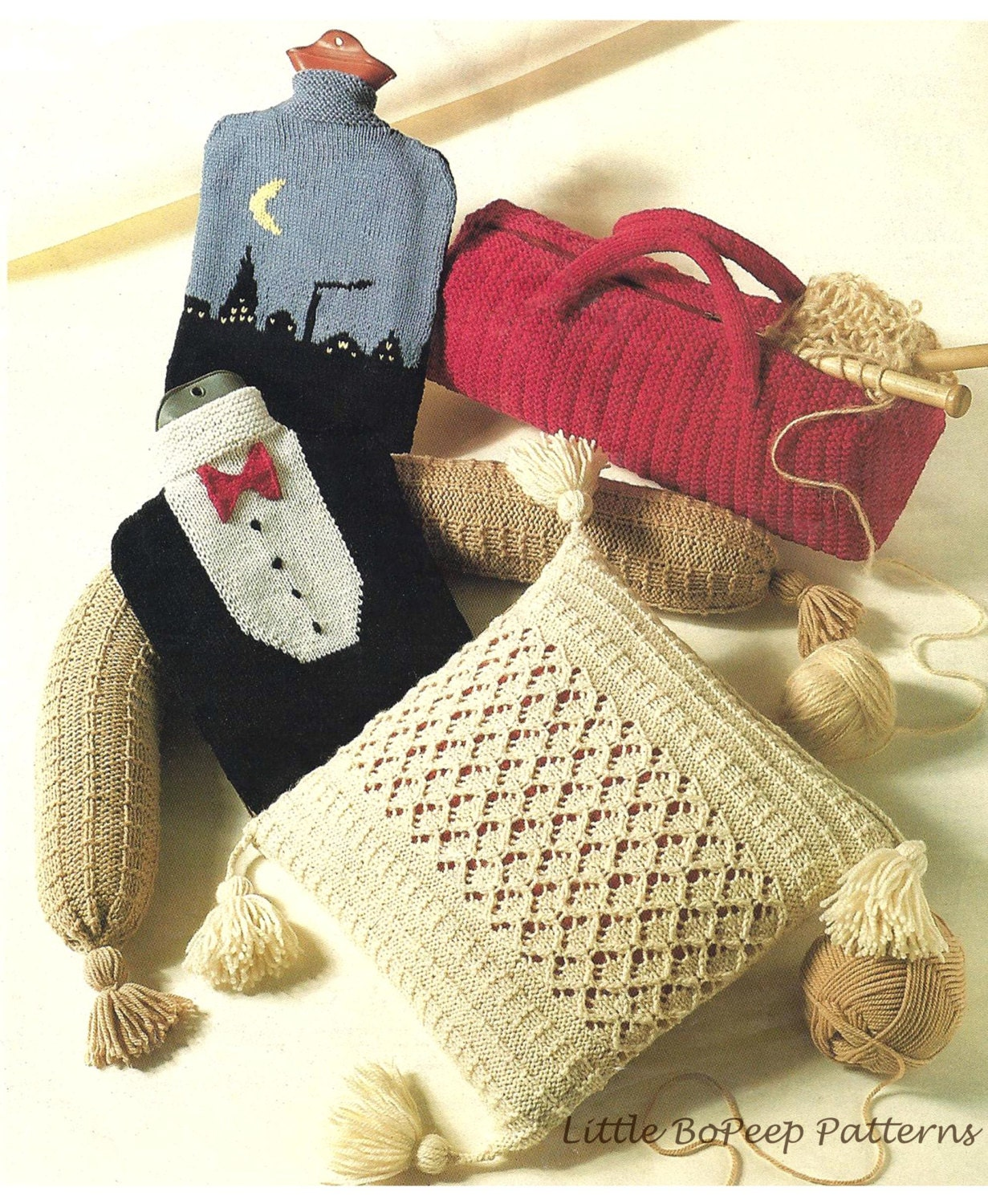 Aran Cushion Cover Aran Draught Excluder Hot Water Bottle