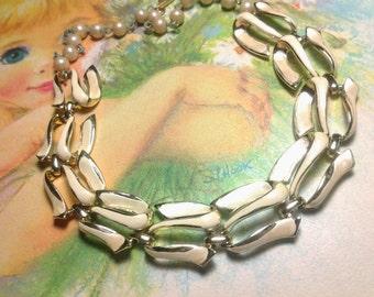 vintage costume jewelry necklace choker enamel