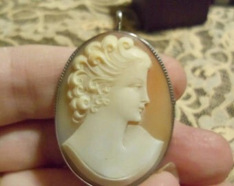 Exquisite Hand Carved Bone Cameo-Antique- Price Change