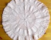 Handmade Crocheted Doily, Ruffled