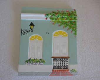 1990's Plaques of Old San Juan Facades / Colonial Arquitecture / Puerto Rico