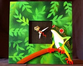 Tree frog clock