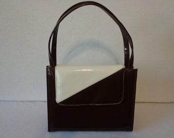 Brown/Creme Small Handbag 50's- 60's