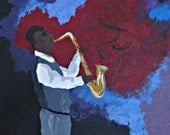 Jazz Man, New Orleans Jazz Painting